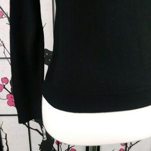 GAP Sweaters - GAP Extra Fine Merino Wool Black Sweater Crew